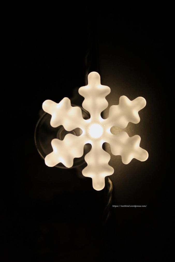 Lichterkette Schneeflocken